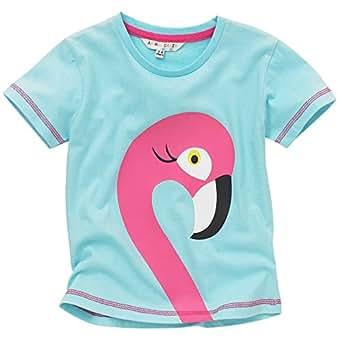 Girls Flamingo Print T Shirt Clothing
