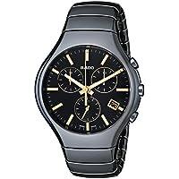 Rado Men's R27814172 True Chronograph Analog Display Swiss Quartz Watch - Black