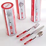 Coca-Cola 12pc Flatware (red, 5) (Color: Red, Tamaño: 5)