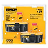 2 x Dewalt 18v DC9096 - DE9096 XRP 2.4Ah Ni-Cd Batteries In Blister Pack * Fulfilled by Amazon*
