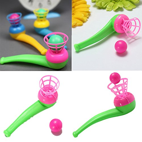10Pcs Kids Children Air Suspension Ball Toy Blow Pipe And Balls (Air Suspension Ball Toy compare prices)