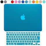 MS factory MacBook Air 13 ケース + 日本語 キーボード カバー ハードケース 全13色カバー RMC series マックブック エア 13.3 インチ Early 2015 対応 マット加工 スカイブルー 水色 RMC-SETA13MSK