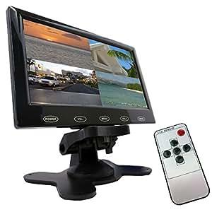 ワイド 7インチ TFTカラー 液晶モニター BNC端子対応で防犯カメラなど監視用モニターに最適 【 防犯カメラ 監視カメラ 】