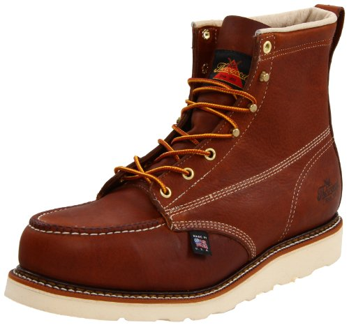 Thorogood American Heritage 804-4200 6-Inch Steel-Toe Work Boot, Tobacco, 9 D US