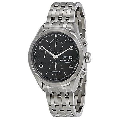Baume et Mercier Clifton Chronograph Black Dial Stainless Steel Mens Watch MOA10212