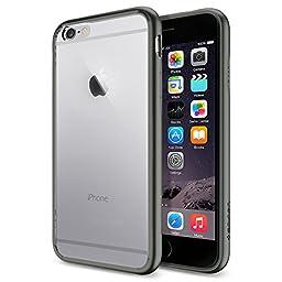 iPhone 6 Case, Spigen® [Ultra Hybrid Series] AIR CUSHION [Gunmetal] Air Cushion Technology Bumper Case with Clear Back Panel for iPhone 6 (2014) - Gunmetal (SGP10950)