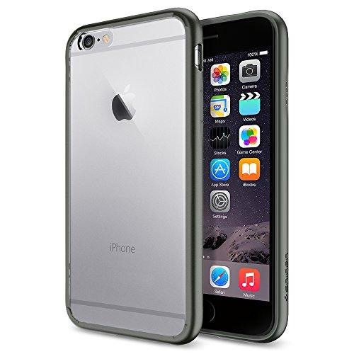 iPhone 6 ケース, Spigen®  [ クリア バンパー] Apple iPhone 4.7 (2014) ウルトラ・ハイブリッド The New iPhone アイフォン6 (国内正規品) (ガンメタルSGP10950)
