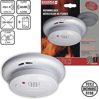 Bavaria BARM2RF Funk-Rauchmelder / Rauchwarnmelder, koppelbar mit bis zu 20 weiteren BARM2RF o. BARM6RF