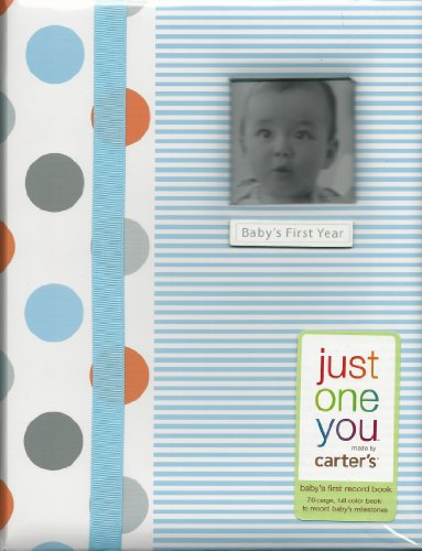 Carter'S Just One You Baby'S First Record Memory Book, Boy (Stripes, Dots)