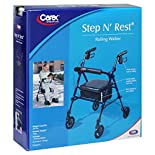 Carex Rolling Walker, Step N' Rest, 1 set