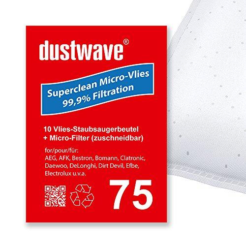 Sparpack - 10 Staubsaugerbeutel geeignet für AEG - / AEG-Electrolux AE 2000 - Ergo Essence Bodenstaubsauger von dustwave® Markenstaubbeutel - Made in Germany + inkl. Microfilter