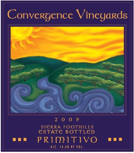 2009 Convergence Vineyards Estate Bottled Sierra Foothills Primitivo 750 Ml