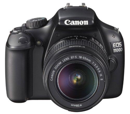 Canon EOS 1100D SLR-Digitalkamera (12 Megapixel, 6,9 cm (2,7 Zoll) Display, HD-Ready, Live-View) Kit II inkl. EF-S 18-55mm 1:3,5-5,6 IS II schwarz