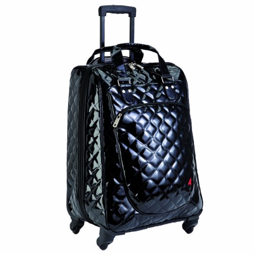 Athalon Luggage Spinner Wheels Construction Eurostyle Carryon, Patent Midnight, One Size best buy