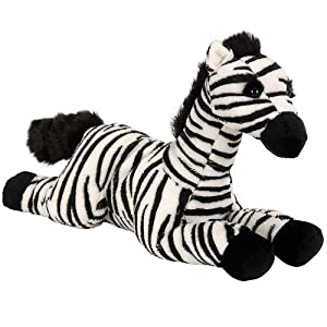Animal Alley 15 inch Zebra - Black and White