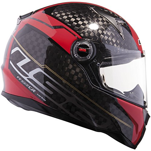 LS2 FF396.61 CR1 Trix Motorcycle Helmet XXL Red