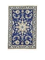 L'Eden del Tappeto Alfombra Nain K Azul / Crudo 58 x 88 cm