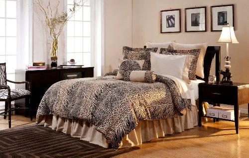 Pointehaven 12-Piece 100-Percent Cotton Luxury Bedding Ensemble, Urban Safari, King