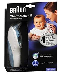 Braun Thermoscan Ear Thermometer with ExacTemp Technology, Pack of 2