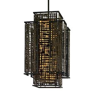 Corbett Lighting 105-42 2-Light Shoji Large Pendant Light Fixture, Bonsai Bronze