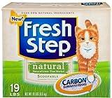 FRESH STEP CAT LITTER 261324 Fresh Step Naturals Scoop Box, 19-Pound