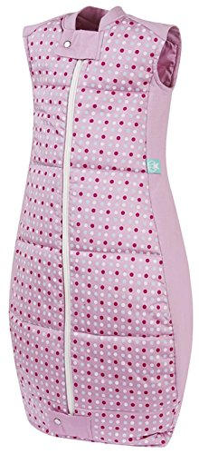 ergoPouch 3.5 TOG Organic Cotton Quilt Sleeping Bag, Pink Polka Dots, 12-36M