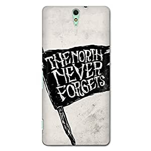 CrazyInk Premium 3D Back Cover for SONY C5 ULTRA - GAME OF THRONES NORTH NEVER FORGIVES