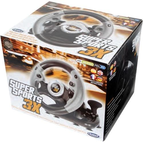 Datel SuperSports 3X Racing Wheel - PlayStation 3, Xbox 360, Windows