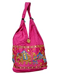 Cotton Canvas Boho Hobo Indian Elephant Ladies Sling Shoulder Bag