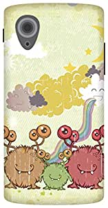 The Racoon Lean Family of Monsters hard plastic printed back case/cover for LG Nexus 5