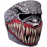 Astra Depot NEOPRENE SKULL FULL FACE REVERSIBLE MOTORCYCLE MASK (Fang Face)