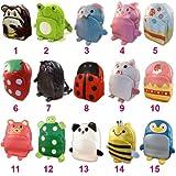 Linda Linda Green Frog Kids Bag, Little Kid Backpack, Children School Bag and Travel Bag