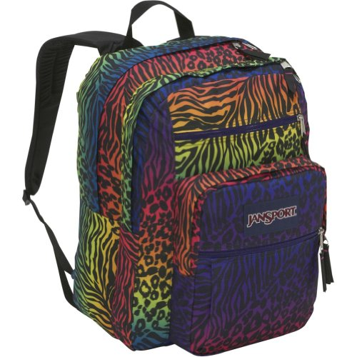 JanSport Big Student School Backpack (Black Animal Frenzy) available ...