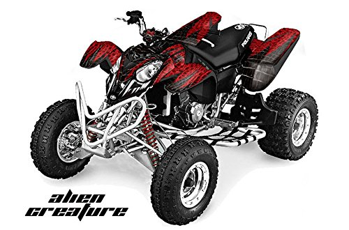 POLARIS PREDATOR 500 GRAPHICS KIT CREATORX DECALS STICKERS SPELL RED