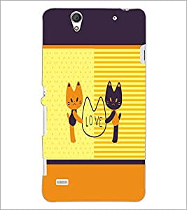PrintDhaba Love D-1373 Back Case Cover for SONY XPERIA C4 (Multi-Coloured)