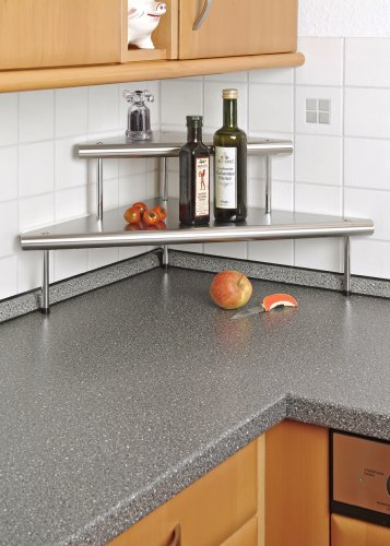 Accessori Cucina Prezzo: Mensola angolare in acciaio legato scaffale ...