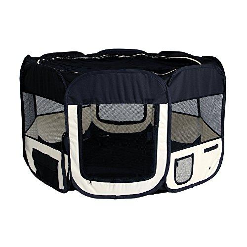 yorbay welpenauslauf welpenlaufstall tierlaufstall laufstall mit tragetaschen f r hunde hasen. Black Bedroom Furniture Sets. Home Design Ideas