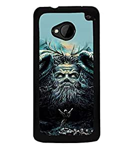 printtech Awesome Diety Summon God Back Case Cover for HTC One M7::HTC M7