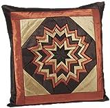 Shahenaz Home Shop Kyrah Surface Saga Poly Dupion Cushion Cover - Orange and Brown