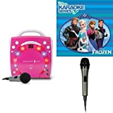 Singing Machine SML283BK CDG Karaoke Player (Pink) With Disney's Frozen Karaoke CD, and Extra Microphone Bundle