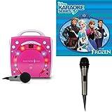 Singing Machine SML283BK CDG Karaoke Player (Pink) With Disneys Frozen Karaoke CD, and Extra Microphone Bundle