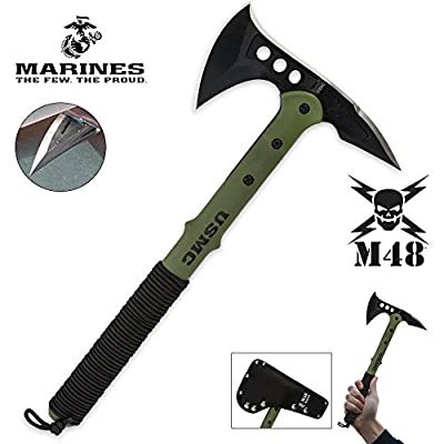 United Cutlery M48 U.S.M.C. Tactical Tomahawk Axe, Green by Sportsman Supply Inc.