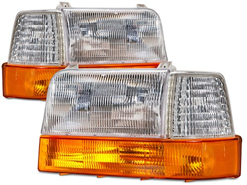 Ford F150-250/Bronco 6-Piece Headlights Set (Headlight Assembly Bronco compare prices)