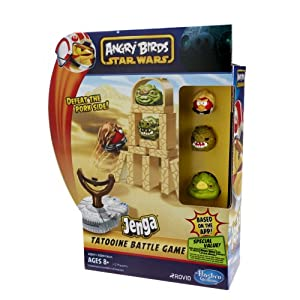 Star Wars Angry Birds Jenga Battle Game - Tatooine [UK Import]