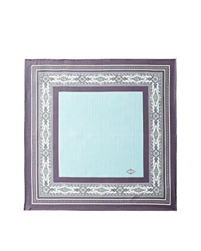 Versace Women's Patterned Silk Scarf, Purple/Light Blue