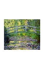 ARTE E TESSUTI by MANIFATTURE COTONIERE Panel Decorativo Monet-Ponte Giapponese (Verde)
