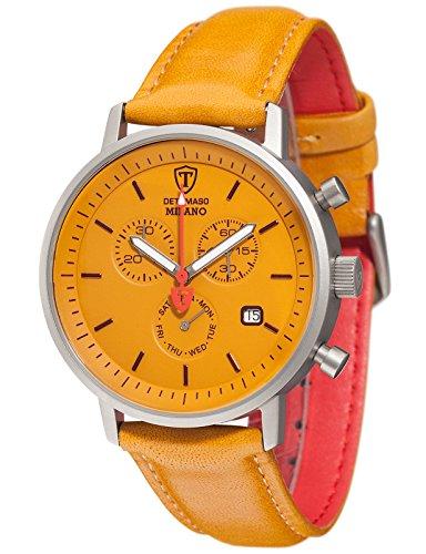 montre-hommes-detomaso-quartz-affichage-chronographe-bracelet-cuir-jaune-et-cadran-jaune-dt1052-u