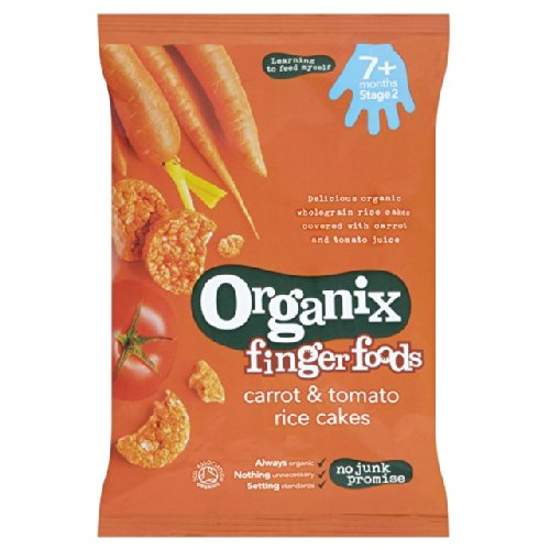 Organix Carrot & Tomato Rice Cakes 50g