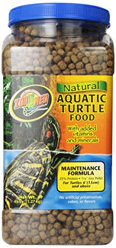 Zoo Med Natural Aquatic Turtle Food with Maintenance Formula, 45 Ounce ...