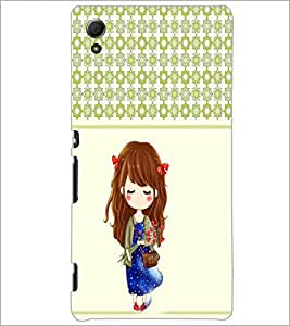 PrintDhaba Cute Doll D-5838 Back Case Cover for SONY XPERIA Z4 (Multi-Coloured)